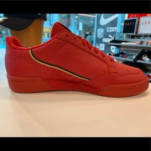 Men's Red Adidas Continental 80
